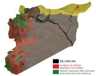 Suriye'deki son Durum. Kaynak : Twitter : @ValkaryV