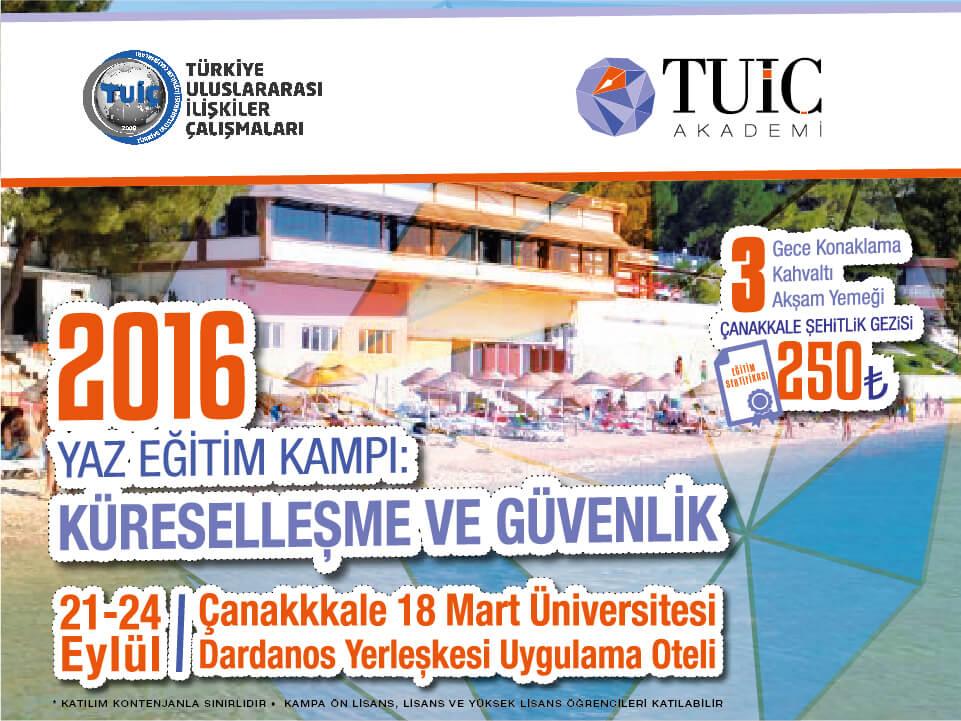 """TUİÇ 2016 Yaz Kampı """"Küreselleşme ve Güvenlik"""" Sertifika Programı"""
