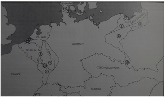 Almanya'nın Versay Antlaşması sonucu iade ettiği yerler