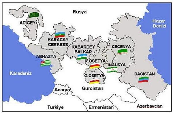 Kafkasya Siyasi Haritasi